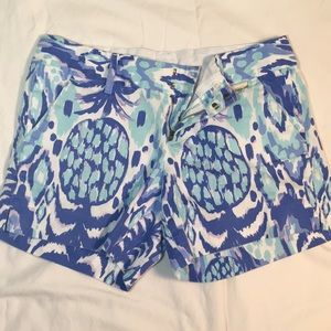 "Lilly Pulitzer 5"" Callahan Pineapple Shorts"